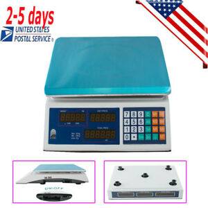 us digital Scale Price Computing Deli Food Fruit Produce Counting Weight 30kg