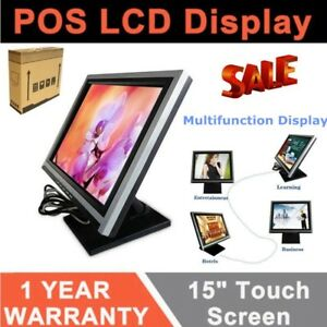 15 Lcd Touch Screen Led Pos Monitor System Restaurant Bar Retail Pub Service Us