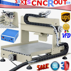 3 Aix 3040 Cnc Router Engraver Engraving Machine Milling Drilling Desktop Mach3