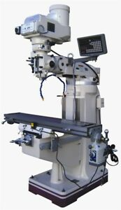 New Gmc Manual Knee Mill 9 X 49 Vertical Milling Machine W Dro