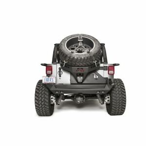 Fab Fours Jk2070 1 Slant Back Tire Carrier Fits 2007 2017 Jeep Wrangler Jk