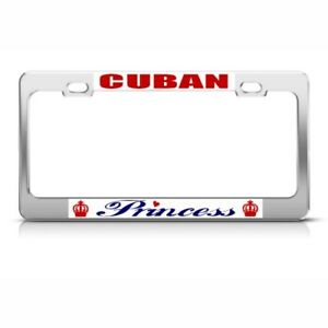 Cuba Cuban Princess License Plate Frame Tag Holder