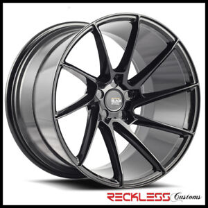 Savini 19 Bm15 Black Concave Directional Wheels Rims Fits Mazda3 Mazda6
