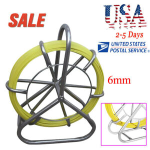 us Sale fish Tape Fiberglass Wire Cable Running Rod Duct Rodder Fishtape Puller
