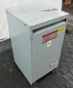 General Electric 50 Kva Transformer 240 480 Primary 120 240 Secondary Volts