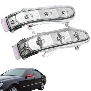 2pcs Side Mirror Led Turn Signal Light For Mercedes Benz Cl500 Cl55 Cl600 2003