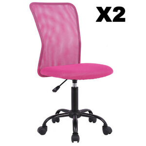 Set Of 2 Mid back Mesh Office Chair Computer Task Swivel Seat Ergonomic Chair