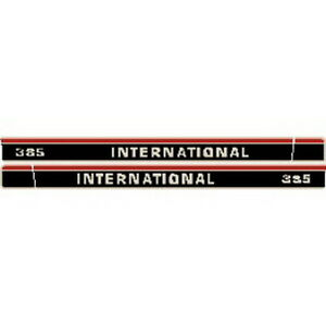 New 385 International Harvester Farmall Tractor Hood Decal Kit Quality Vinyl