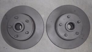 Set 1968 1971 Ford Torino Ranchero Cyclone Front Disc Brake Rotors With Hubs