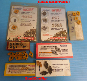 New 25 Pc Lot Of Dnmg Cnmg Dngg Dcmt Inserts 431 432 Southbend Lathe Milling