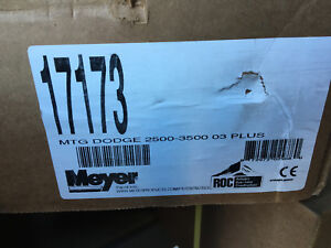17173 Meyer Snow Plow Mounting Kit 2003 Dodge 2500 3500 Meyer 17173 Plow Mount