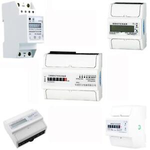 1 3 Phase Single Phase Din Kilowatt Hour Kwh Electricity Meter 50hz 15 Kinds