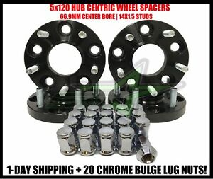 4 Hub Centric Wheel Spacers 5x120 17mm For Chevy Malibu Impala Camaro 14x1 5