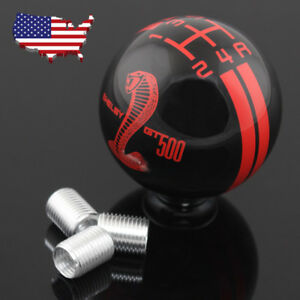 5 Speed Car Cobra Manual Gear Shift Knob Mt For Ford Shelby Mustang Gt500 Mt Usa