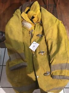 Firefighter Suits Jacket Coat Bunker Fire Turnout Gear 44x40