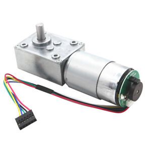 24v Electrical Speed Reducer 27rpm Gear Reduction Motor Dc Motor W Encoder