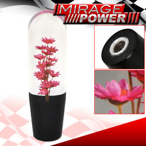 Universal Racing Drift Jdm Poly Shift Knob M T Flower Filled Red
