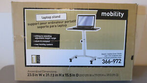 Laptop Stand Portable Computer Adjustable Top For Mobility Desk