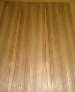 Teak Wood Veneer 19 X 23 On Paper Backer a Grade Quality 1 40th Thickness