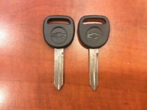 2 New Ignition Key Uncut Blade Blank For Gm Gmc Chevy Silverado Truck Van