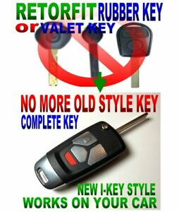 Change Valet Or Rubber Key To All Function I Key Style Flip Remote Chip Fob E9