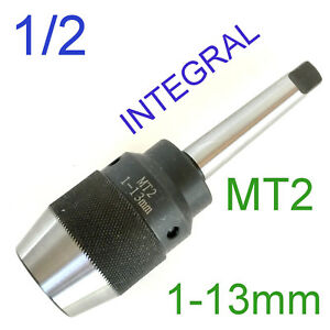 1 Pc Keyless 1 32 1 2 Drill Chuck W integral Integrated Mt2 2mtshank For Cnc
