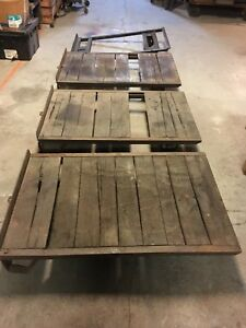 Lot Of 4 Neat Industrial Pallet Carts Steampunk Coffee Table Cart 4 X 2 1 2