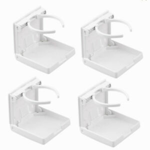 4pcs Folding Adjustable Cup Drink Holder White For Auto Car Suv Truck Van Boat