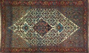 Beautiful Bijar 1890s Antique Halvai Rug Persian Tribal Kurdish 5 7 X 8 9