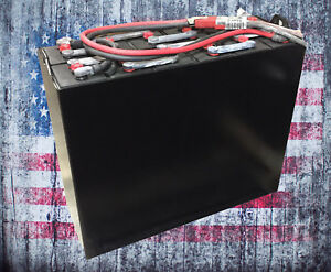 Refurbished 12 125 15 24v 875ah Industrial Steel Case Forklift Battery