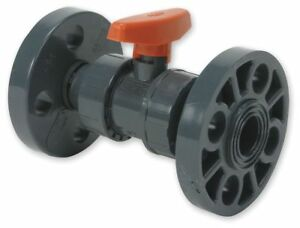 Gf Piping Systems Pvc Flanged X Flanged Ball Valve Tee 2 Pipe Size