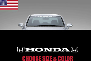 Windshield Banner Double Logo Compatible With For Honda Decal Sticker Jdm Race