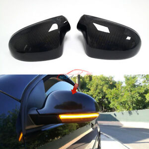 Carbon For Vw Golf 5 Jetta Mk5 R Gti V Side Wing Rearview Mirror Cover Replace