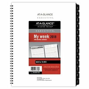 At Glance Executive Fashion Weekly monthly Planner Refill 8 1 4 X 10 7 8 2018