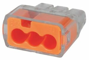 Ideal Orange Push in Connector 3 Port Connector Type 30 1033j