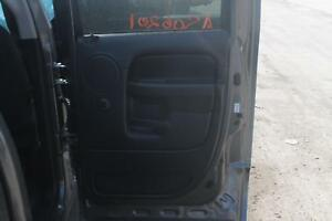 2003 03 Dodge Ram 1500 Rear Interior Door Trim Panel Right Passenger Black