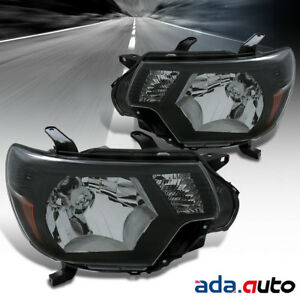 Trd Style For 2012 2015 Toyota Tacoma Black Headlights Head Lamps 2013 2014