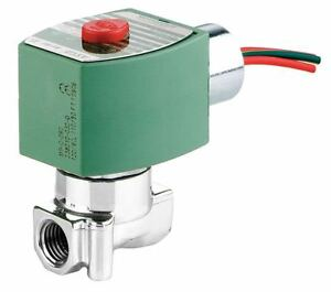Red Hat 120vac Stainless Steel Solenoid Valve Normally Closed 1 4 Pipe Size