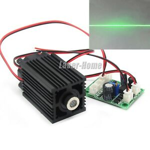 532nm 50mw 80mw Green 12v Focusable Line Laser Diode Module W Fan