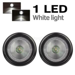 2xtrailer Truck White Sealed 4 Round Led Stop Turn Tail Reverse Lights W Reflex