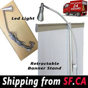 2 In 1 Box display Light Banner Stand Lamp For Retractable Roll Up Stand Booth