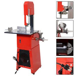 New Electric 550w Stand Up Butcher Meat Band Saw Grinder Processor Sausage