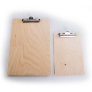 Wooden Clip Board A4 Or A5 single Or Set office Paper Hardboard strong Clip