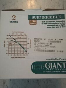 2e 38n 502203 New Little Giant Small Submersible Inline Pump