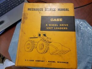 Case Mechanics Service Manual 4 Wheel Drive Unit Loaders 12 1960 Vintage