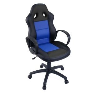 Office Race Car Style Pu Leather High Back Bucket Seat Desk Stool Gaming Chairs