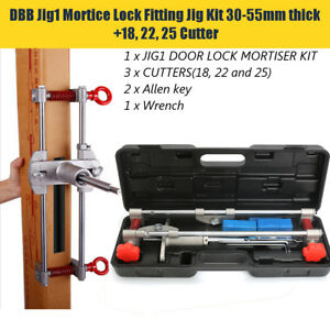 Us Mortice Lock 18 22 25mm Kit For Jig Dbb jig1 Door Lock Mortiser With 3 Cutter