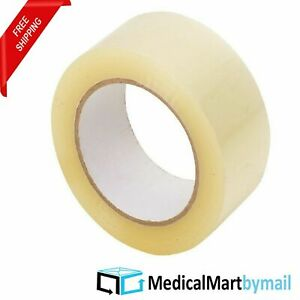 120 Rolls Clear Carton Sealing Tape Packing Package Box 1 9mil 3 x110 Yds 330 Ft