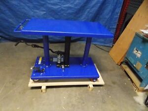 Worksmart Hydraulic Lift Table 1000lb Cap 30 To 47 1 2 ws mh lftb1 110