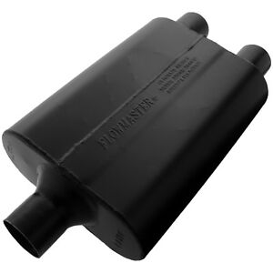 Flowmaster 9424472 Super 44 Muffler 2 25 Center Inlet 2 25 Dual Outlet